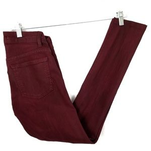 Rich and skinny burgundy skinny jeans